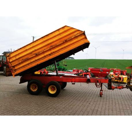 Przyczepa rolnicza budowlana Kiper wywrotka 12 ton szyber Miedema